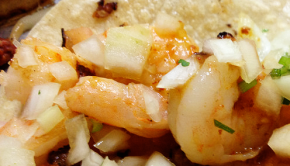 These shrimp and fish tacos rock.
