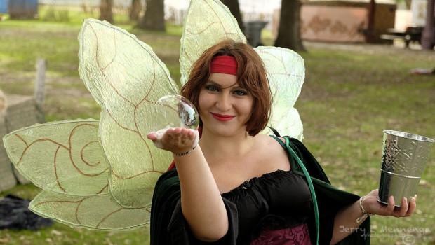 A fairy with her bubble at Riverssance in Sioux City, Iowa, Saturday, Oct. 3, 2015.    (Photo by Jerry L Mennenga)
